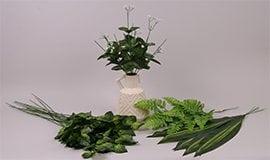 Искусственные листья, стебли, ножки