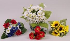 Букеты полевых цветов