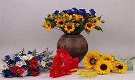 Искусственные полевые цветы