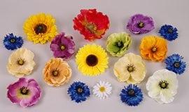Искусственные головки полевых цветов