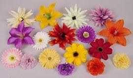 Штучні головки різних квітів