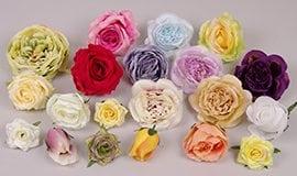 Искусственные головки роз