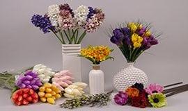 Искусственные весенние цветы