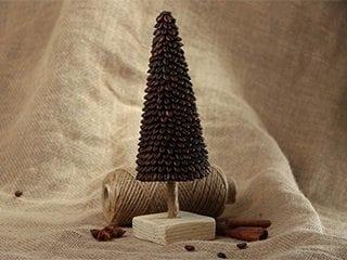 Кофейная елочка – оригинальный подарок с нежным ароматом