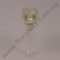 Подсвечник стеклянный шампань 30049
