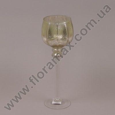 Фото Подсвечник стеклянный шампань 30049