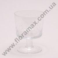 Подсвечник стеклянный трещины H-11 см. 8228