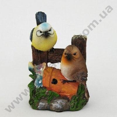 Фото Садова фігурка зі звуком Пташки К4.048