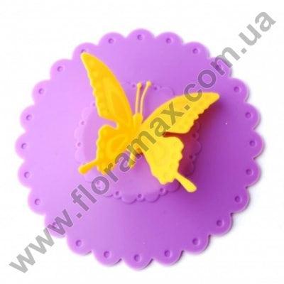 Фото Крышка силиконовая для чашки 11 см. 30532 фиолетовая