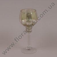 Подсвечник стеклянный шампань 30050