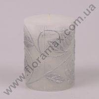 Свічка Flora Циліндр срібна 24562