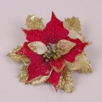 Головка Пуансетии красно-золотая 75209