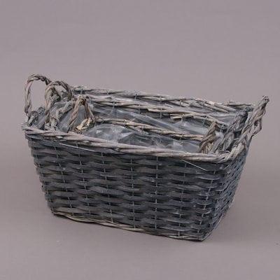 Комплект кашпо из лозы (3 шт.) 24397