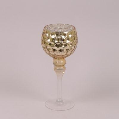 Фото Подсвечник стеклянный шампань H-30 см. 30069