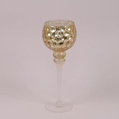 Фото Подсвечник стеклянный шампань H-35 см. 30070