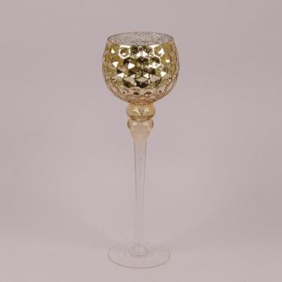 Фото Подсвечник стеклянный шампань H-40 см. 30071
