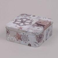 Коробка металева новорічна 30037