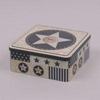 Коробка металева новорічна 30034