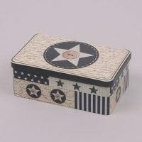 Коробка металева новорічна 30035