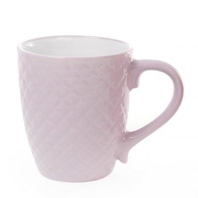 Фото Чашка керамическая Сетка 0,4 л. фиолетовая 28384