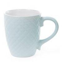 Чашка керамическая Сетка 0,4 л. голубая 28387