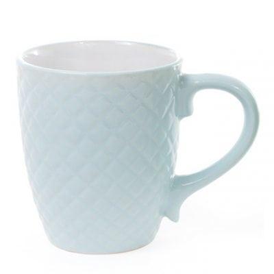 Фото Чашка керамическая Сетка 0,4 л. голубая 28387
