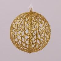 Куля новорічна золота D-12 см. 75443