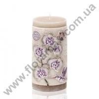 """Свеча цилиндр """"Orchid Eco"""" 7х14 см. 28925"""