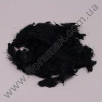 Пір'я декоративне чорне 25476