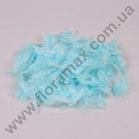 Перья декоративные голубые 25483