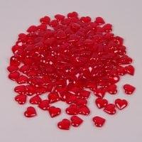Камушки декоративные Сердца красные 2,3 х 0,7 х 2,3 см. (240 шт.) 25934