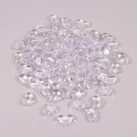 Камушки декоративные Сердца бесцветные 3 х 1 х 2,5 см. (100 шт.) 25938