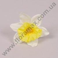 Головка Нарцисса желто-белая 23732