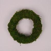Вінок декоративний зелений 20 см. 39037
