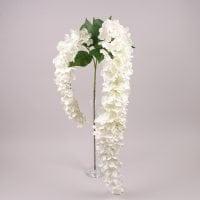 Ветка цветущая свисающая белая 71564