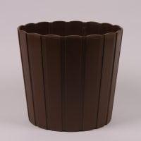 Горшок пластмассовый Boardee Basic коричневый 12см.