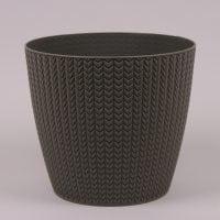Горшок пластмассовый Wheaty серый 16см.