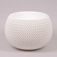Горщик пластмасовий з вкладом Splofy Bowl білий