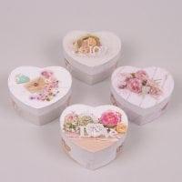 Коробка для подарков Сердце микс 12 шт. (цена за 1 шт.) 41014
