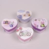 Коробка для подарков Сердце микс 12 шт. (цена за 1 шт.) 41018