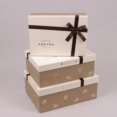 Фото Комплект коробок для подарков 3 шт. 41058