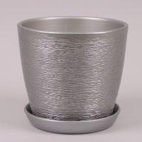 Горшок керамический Виктория люкс металлик 0,6л.