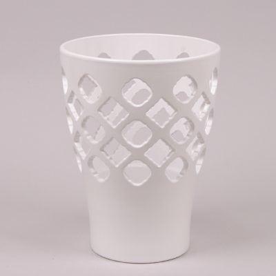 Фото Горшок керамический Орхидейница Ажур белый