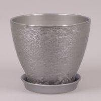 Горшок керамический Ксения люкс металлик 11л.