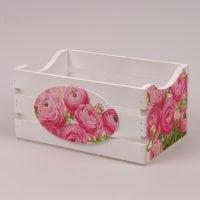 Кашпо декоративное с декупажем Розовые цветы 29544