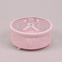 Шкатулка декоративная розовая 26717