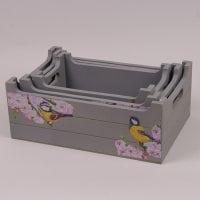 Комплект декоративных ящиков с декупажем Птички 3 шт. 29548