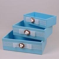 Комплект голубых ящиков 3 шт. 29556