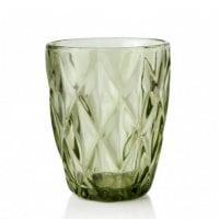 """Комплект зелених скляних склянок """"Elise"""" 250 мл. 6 шт. 30641"""