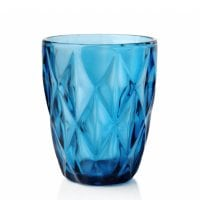 "Комплект синіх скляних склянок ""Elise"" 250 мл. 6 шт. 30642"